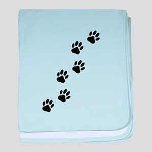 Cartoon Dog Paw Track baby blanket