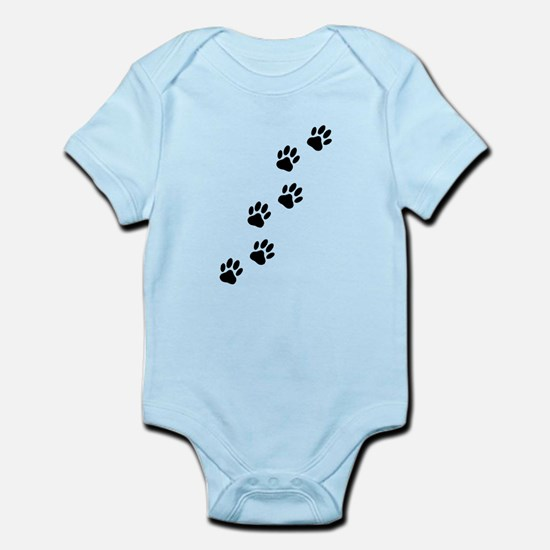 Cartoon Dog Paw Track Body Suit