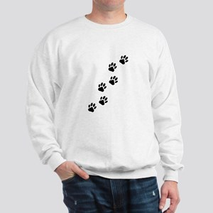 Cartoon Dog Paw Track Sweatshirt