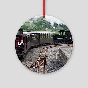 Brecon Mountain Railway, Wales 2 Round Ornament
