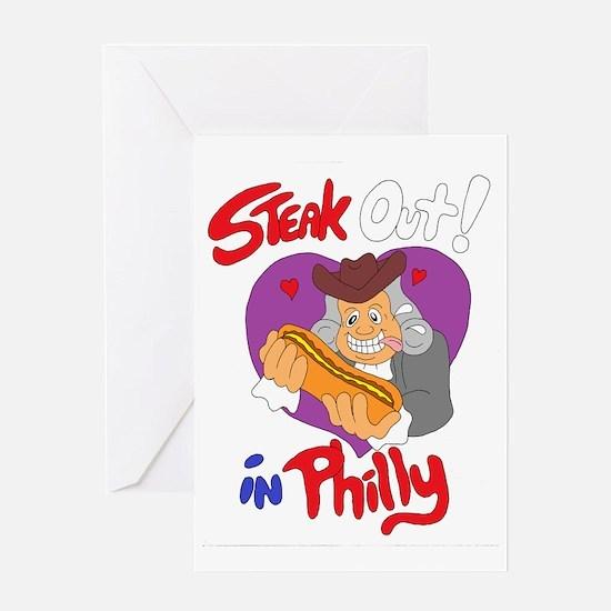 Cute Steak cheese Greeting Card