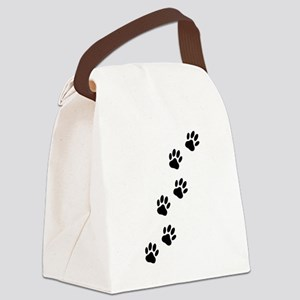 Cartoon Dog Paw Track Canvas Lunch Bag