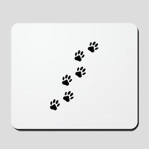 Cartoon Dog Paw Track Mousepad