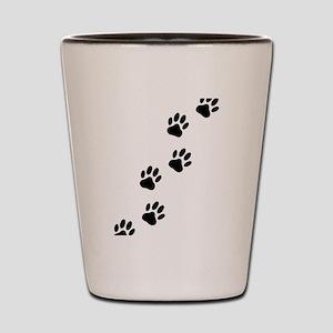 Cartoon Dog Paw Track Shot Glass