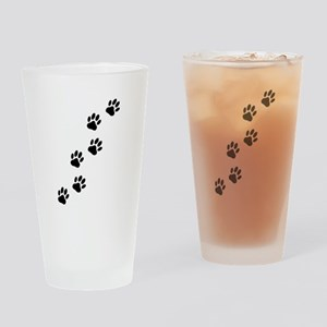 Cartoon Dog Paw Track Drinking Glass
