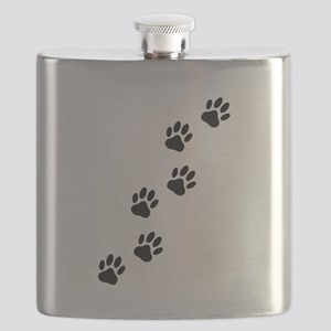 Cartoon Dog Paw Track Flask