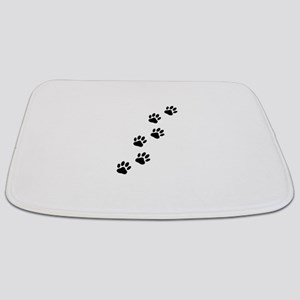 Cartoon Dog Paw Track Bathmat