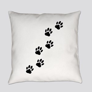 Cartoon Dog Paw Track Everyday Pillow