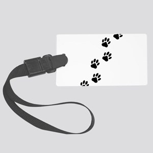 Cartoon Dog Paw Track Large Luggage Tag