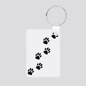 Cartoon Dog Paw Track Keychains