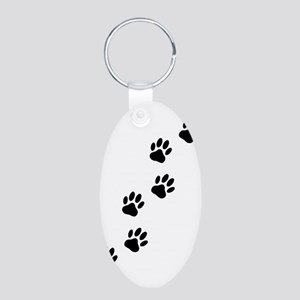 Cartoon Dog Paw Track Keychains