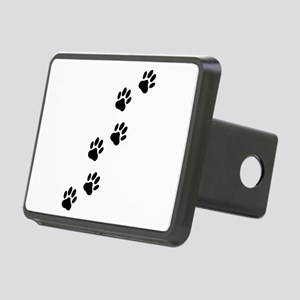 Cartoon Dog Paw Track Rectangular Hitch Cover