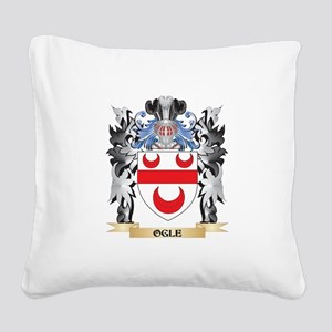 Ogle Coat of Arms - Family Cr Square Canvas Pillow