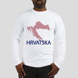 Hrvatska Map Long Sleeve T-Shirt