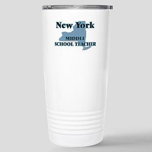 New York Middle School Stainless Steel Travel Mug