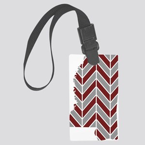 Mississippi State Chevron Large Luggage Tag