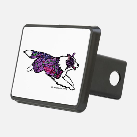 Zentangle Border Collie Hitch Cover