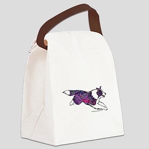 Zentangle Border Collie Canvas Lunch Bag