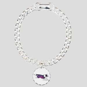Zentangle Border Collie Charm Bracelet, One Charm