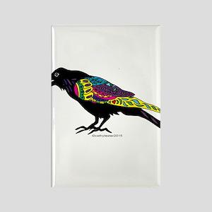 Zentangle Crow Rectangle Magnet