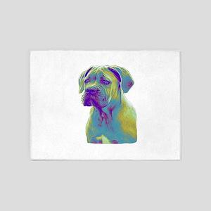 Cane Corso Dog 5'x7'Area Rug