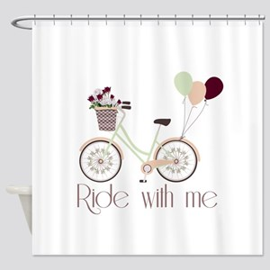 Ride with me Shower Curtain