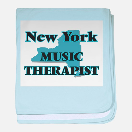 New York Music Therapist baby blanket