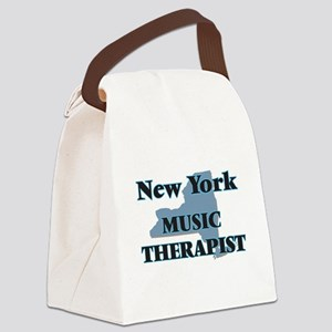 New York Music Therapist Canvas Lunch Bag