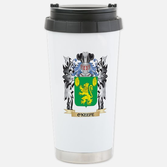 O'Keefe Coat of Arms - Stainless Steel Travel Mug