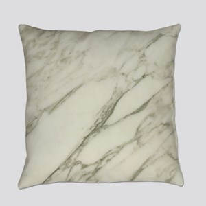 Carrara Marble Design Everyday Pillow