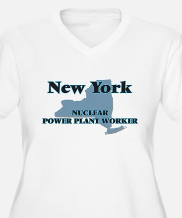New York Nuclear Power Plant Wor Plus Size T-Shirt