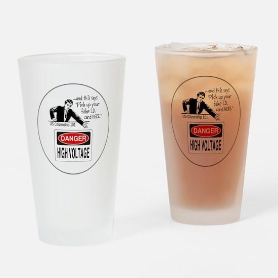 U.S. Citizenship 101 Drinking Glass