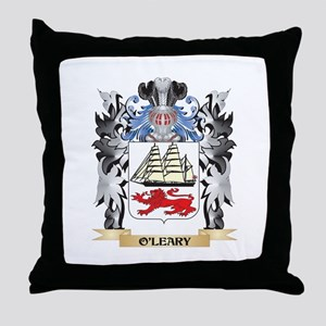 O'Leary Coat of Arms - Family Crest Throw Pillow