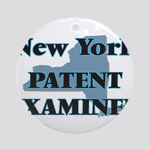 New York Patent Examiner Round Ornament