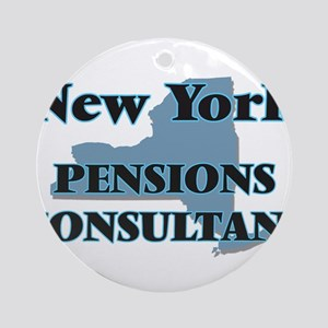 New York Pensions Consultant Round Ornament