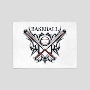 baseball player 5'x7'Area Rug