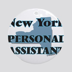 New York Personal Assistant Round Ornament