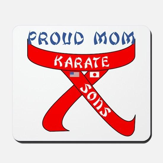 Proud Karate Mom Sons Mousepad