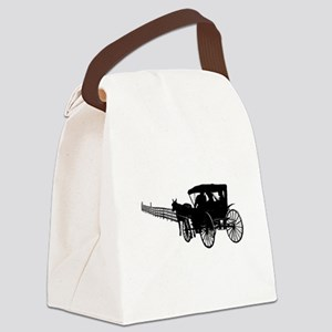 Horse and Buggy Canvas Lunch Bag