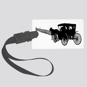 Horse and Buggy Luggage Tag