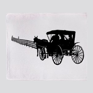 Horse and Buggy Throw Blanket