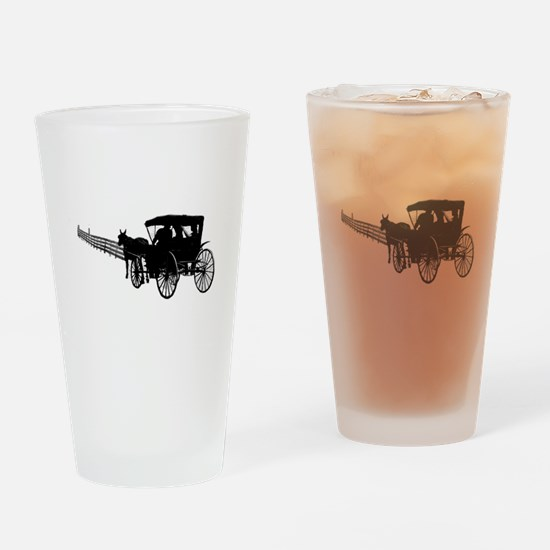 Horse and Buggy Drinking Glass