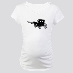 Horse and Buggy Maternity T-Shirt