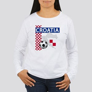 Croatia Soccer Women's Long Sleeve T-Shirt