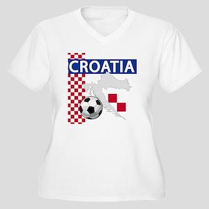 Croatia Soccer Women's Plus Size V-Neck T-Shirt