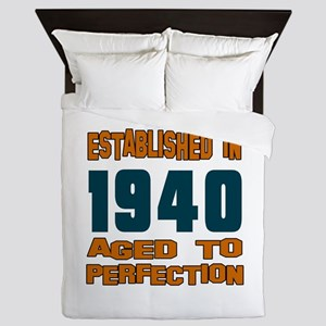 Established In 1940 Queen Duvet