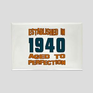 Established In 1940 Rectangle Magnet