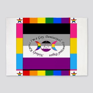 Nobody Knows I'm a Gay Demisexual P 5'x7'Area Rug