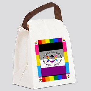 Nobody Knows I'm a Gay Demisexual Canvas Lunch Bag