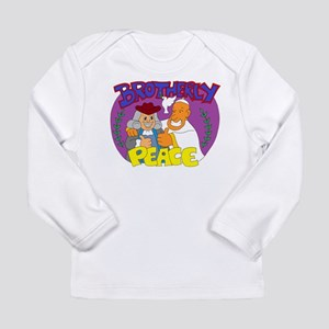 Brotherly Peace: Benjamin Fran Long Sleeve T-Shirt